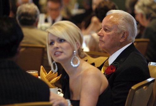 Edwin Edwards with fiance Trina Grimes Scott