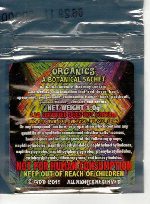 White  Rabbit 1 gm sample bag back