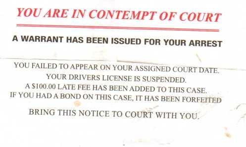 Traffic Court mailing