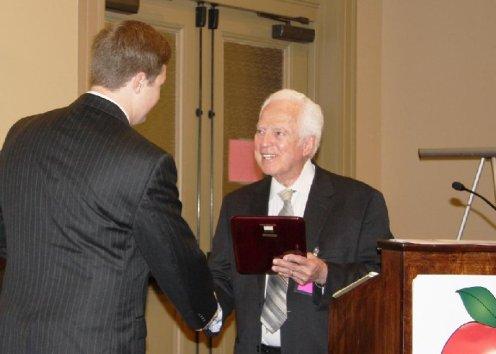 Pascal Calogero receiving another award
