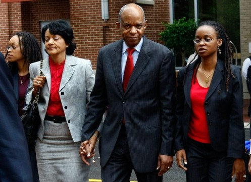 Jefferson with Family after Conviction