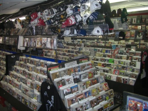 CDs for Sale at Mushroom Records