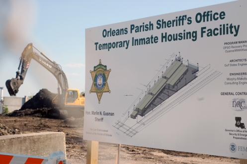 Gusman's Temporary Jail Facility Going Up