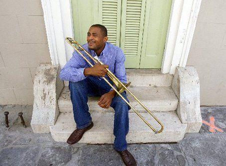 Glen David Andrews with Trombone