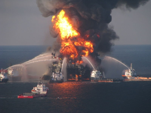 Deepwater Horizon Blowing Up