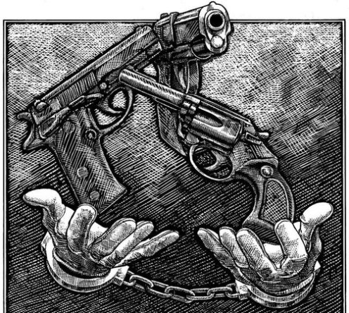 Gun Felon Illustration
