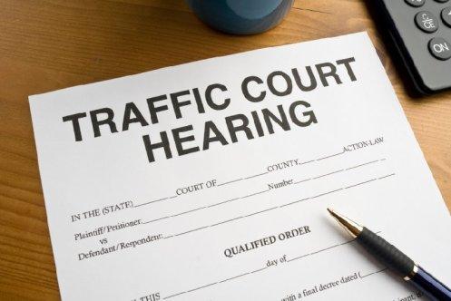Traffic Court Hearing  Document