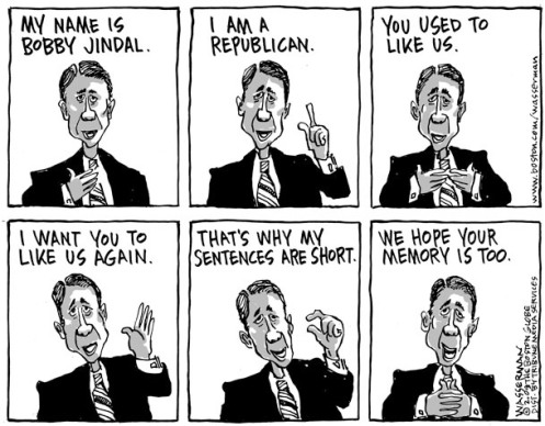 Bobby Jindal Political Cartoon