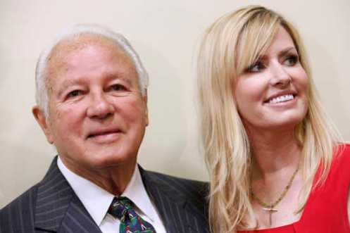 Former Louisiana Governor Edwards and his wife Trina attend luncheon where Edwards announced his run for congress in Baton Rouge