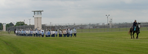Louisiana State Penitentiary Inmates Out For a Jog